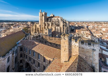The Cathedral of Saint-Just and Saint-Pasteur, France Stock photo © amok