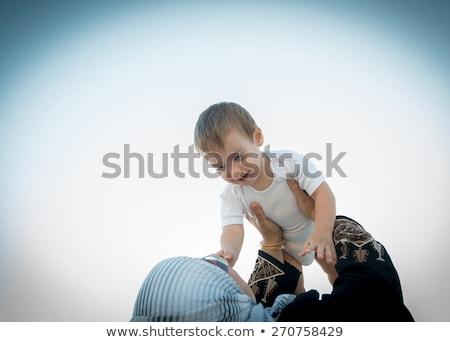 yetişkin · kadın · bebek · silah · beyaz - stok fotoğraf © zurijeta