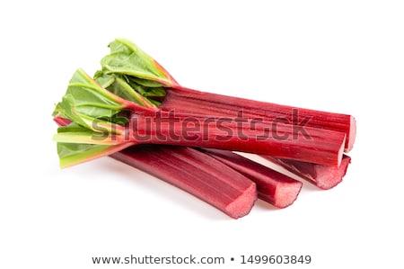 frescos · ruibarbo · crudo · grupo · vegetales · fondo · blanco - foto stock © racoolstudio