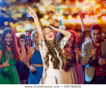 Young girl in prom party Stock photo © zurijeta