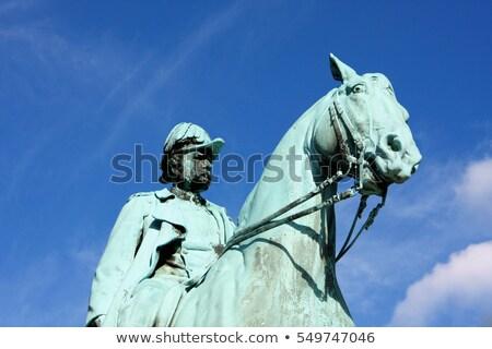 Statue of Frederick IX, King of Denmark in Copenhagen, Denmark Stock photo © vladacanon