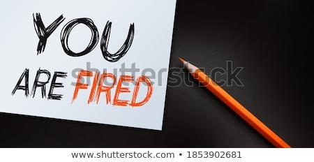 jegyzet · kézírás · narancs · öntapadó · jegyzet · üzenet · foglalkozás - stock fotó © fuzzbones0