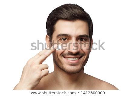человека кремом счастливым случайный Сток-фото © Amaviael