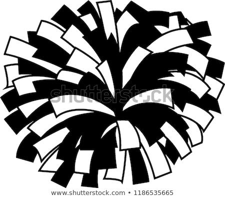 Chefe de torcida ilustração branco dançar fundo adolescente Foto stock © bluering