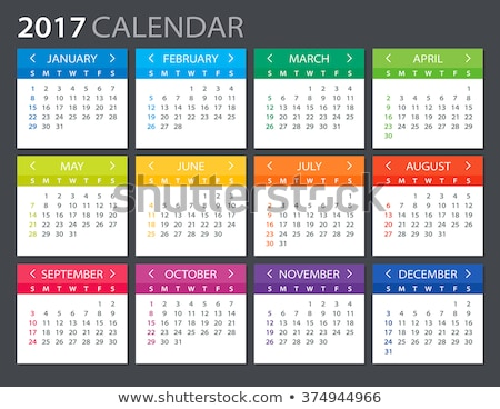 Colorful 2017 calendar Stock photo © Losswen