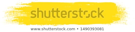Geel verf illustratie witte pen achtergrond Stockfoto © bluering