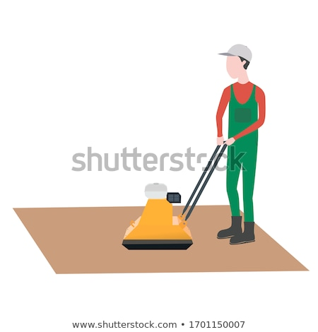 Construction worker with compactor Stock photo © 5xinc