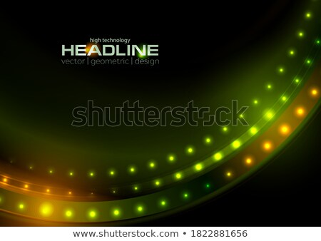 Abstract orange shiny flicker glowing design Stock photo © saicle
