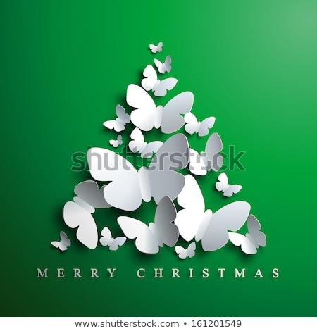 Сток-фото: бабочка · рождественская · елка · зима · праздник · группа