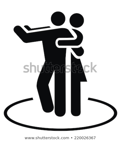 Dancing pair icon Stock photo © angelp