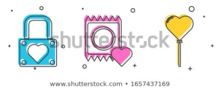 condoms set and packages   contraception symbols stock photo © gomixer