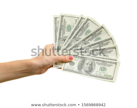 Woman paying with USA dollar money banknotes Stock photo © stevanovicigor
