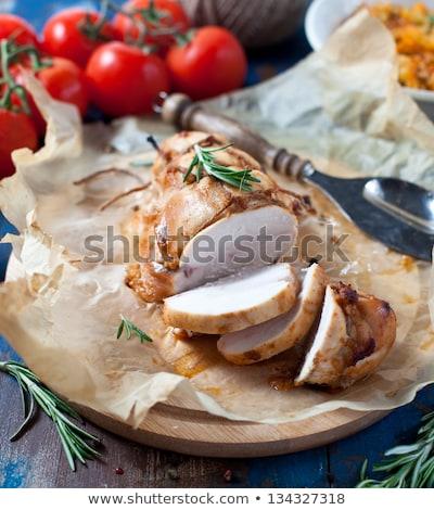 Turquia peito fatias servido tabela Foto stock © user_11224430