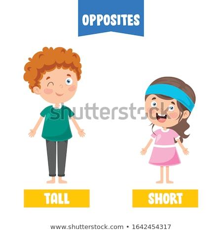 ellenkező · szavak · bók · sértés · illusztráció · gyerekek - stock fotó © bluering