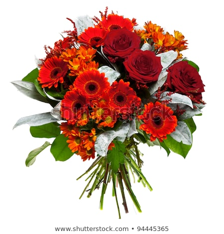 Flower bouquet of red and yellow roses Stock photo © vankad