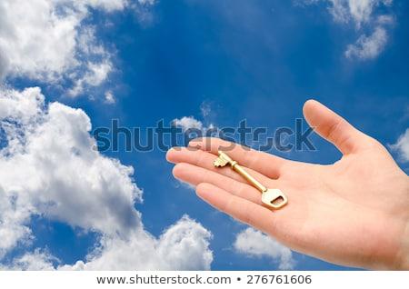 ключевые · стороны · небе · ярко · бизнеса · девушки - Сток-фото © rufous