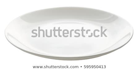 boş · oval · beyaz · plaka · dizayn - stok fotoğraf © Digifoodstock