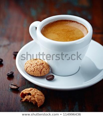 Taza café galletas alimentos Foto stock © drobacphoto