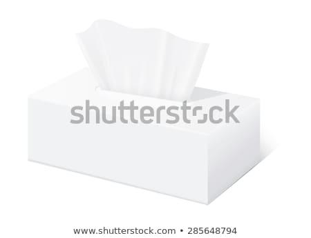 papírzsebkendő · doboz · izolált · fehér · baba · egészség - stock fotó © gsermek