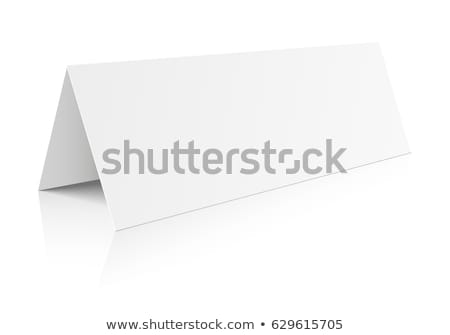 blank table paper card stock photo © unkreatives