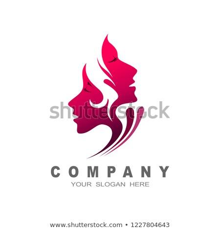 Zdjęcia stock: Dwa · piękna · kobieta · symbol · elementy · wody · ognia