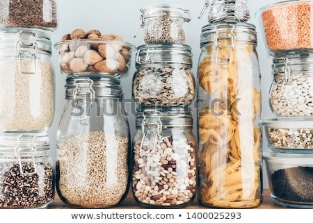 Verre alimentaire jar coup Photo stock © devon