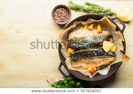 Sgombri patate rosso pan alimentare Foto d'archivio © Digifoodstock