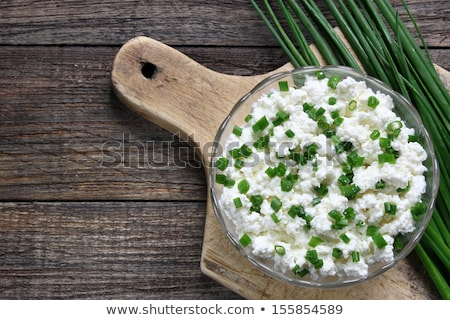 fresh cheese with chives Stock photo © Digifoodstock