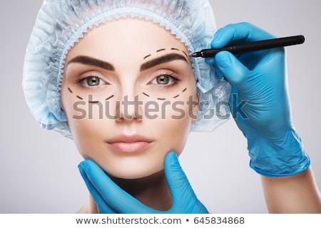女性 · 手 · 眼 · 美 · 薬 · 肖像 - ストックフォト © o_lypa