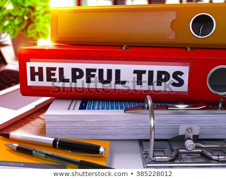 Rojo oficina carpeta útil consejos Foto stock © tashatuvango
