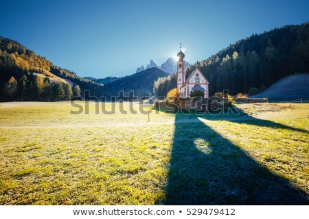morning in st magdalena village location place san giovanni ch stock photo © leonidtit