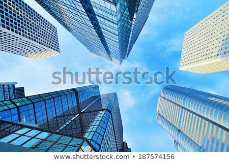 Office Building Window Row Diminishing Perspective Stock photo © Qingwa