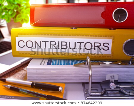 Contributors on Ring Binder. Blurred Image. Stock photo © tashatuvango
