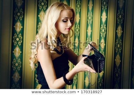 женщины глядя кошелька женщину Европа стиль Сток-фото © IS2