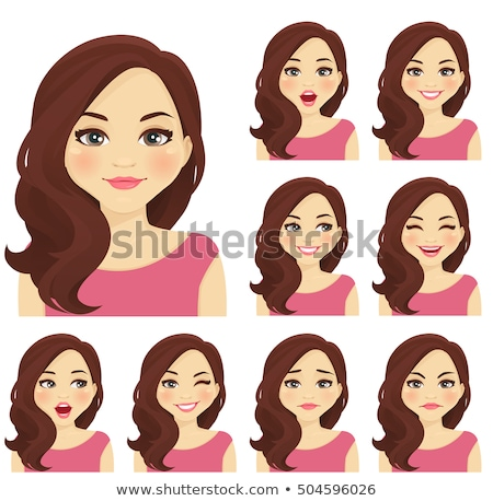 Woman Cartoon Face Stock photo © Krisdog