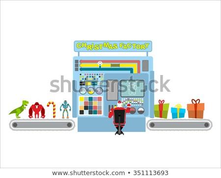 Christmas fabriek automatisch lijn productie geschenken Stockfoto © popaukropa