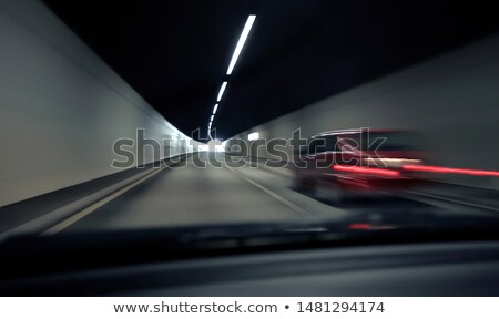 car streaking past in tunnel Stock photo © IS2