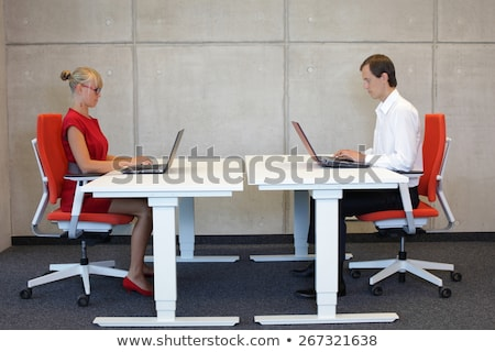 couple working together at a workstation stock photo © is2