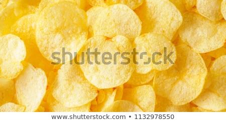 Sózott krumpli három vékony burgonyaszirom senki Stock fotó © Digifoodstock