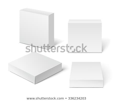 Vak witte drie papier Stockfoto © magraphics