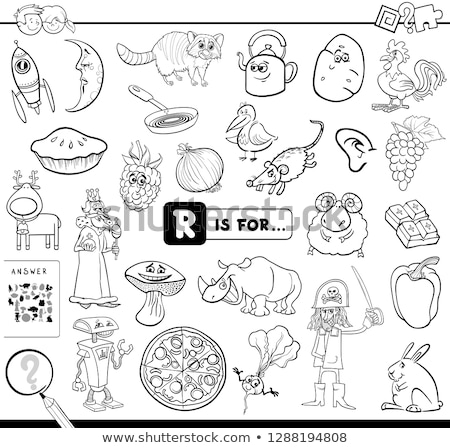 Worksheet design for words starting with R Stock photo © bluering