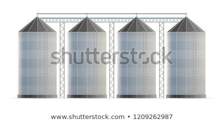 Farm grain silo isometric 3D element Stock photo © studioworkstock