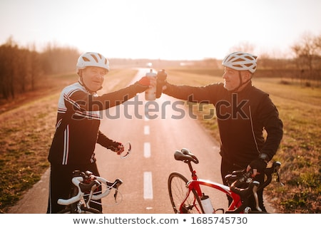 Cyclist couple Stock photo © IS2