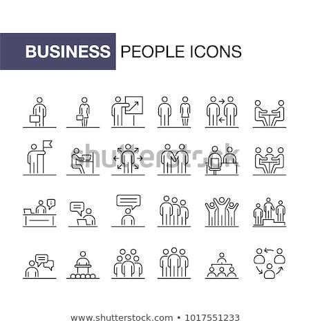 Business beheer menselijke middelen iconen Stockfoto © Genestro