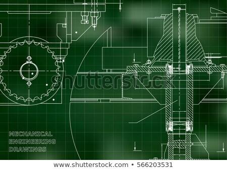 Ingegneria attrezzi verde illustrazione sfondo metal Foto d'archivio © bluering
