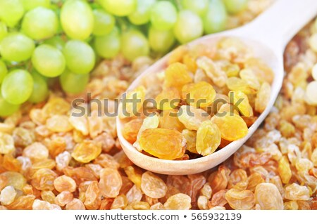 ложку · Sweet · изюм · продовольствие · металл - Сток-фото © Digifoodstock