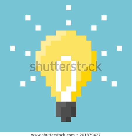 Idea Concept: Bulb Lamp - Image on Pixelated Background. Stock photo © tashatuvango