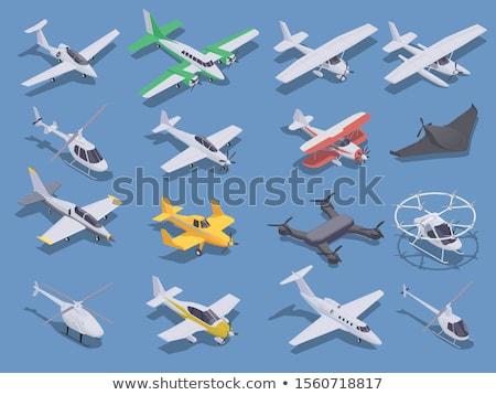 Conjunto isométrica avião negócio céu tecnologia Foto stock © alexDanil