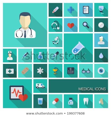 термометра бизнеса Инфографика здоровья икона иллюстрация Сток-фото © rwgusev