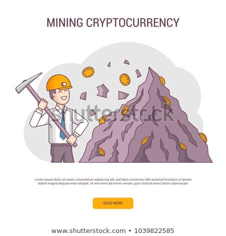 Bitcoin madencilik afiş görüntü video kart Stok fotoğraf © Genestro